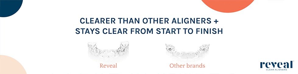 Reveal aligners and logo